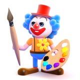 konstnär för clown 3d Arkivfoto