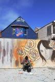 Konstnär i Malibu - Los Angeles - Kalifornien Royaltyfri Foto
