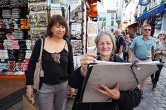 Konstnär på Montmartre Arkivfoto
