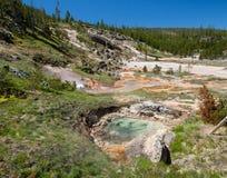 Konstnär Paint Pots, Yellowstone Arkivbilder