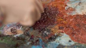 Konstnär Prepares Paints arkivfilmer