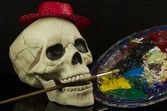 Konstnär Skull Royaltyfria Bilder