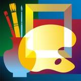 Konstnärattributes vektor illustrationer