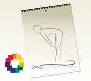 konstnärblocket skissar Arkivbilder