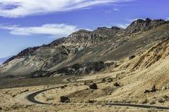 Konstnärdrev, Death Valley nationalpark Arkivbilder