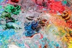 Konstnärs palett Fotografering för Bildbyråer