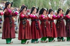 Konstnärer på festival av det Ladakh arvet Royaltyfri Bild