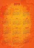 Konstnärlig 2015 år vektorkalender Royaltyfri Bild