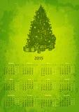 Konstnärlig 2015 år vektorkalender Arkivbilder