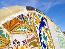 Konstnärlig bakgrund av brutet belägger med tegel Royaltyfri Fotografi