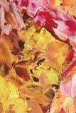Konstnärlig bakgrund i pastellfärgade signaler av rosa färger och guld Royaltyfria Bilder