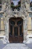 konstnärlig dörr Arkivbild