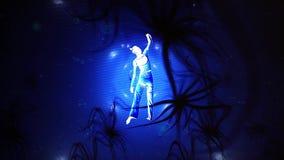 Konstnärlig dansare Into Graphic Animation av stock video