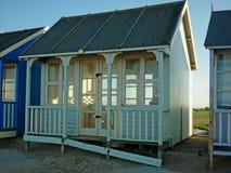Konstnärlig design på en strandkoja, Sutton på havet Royaltyfri Fotografi
