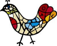 konstnärlig fågel Arkivbild