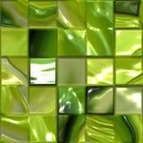 konstnärlig grön mosaiktegelplatta vektor illustrationer