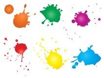 Konstnärlig grungy målarfärgdroppe, hand - gjorde färgstänk royaltyfri illustrationer