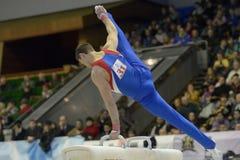 Konstnärlig gymnastik Arkivbild