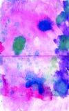 Konstnärlig handgjord färgrik bakgrund målad vattenfärg Hand Arkivfoto