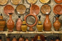 Konstnärlig handgjord lerakrukmakeri Royaltyfri Foto