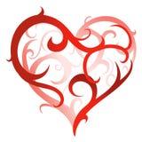 konstnärlig hjärtaform Royaltyfri Foto