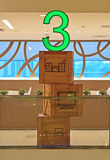 Konstnärlig indikering av nivå 3 i en byggnad Royaltyfri Fotografi