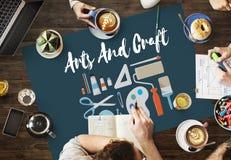 Konstnärlig konstnär Design Ideas Concept för konsthantverk Fotografering för Bildbyråer
