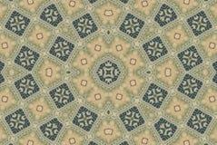 konstnärlig lantlig mosaikmodell Arkivbild