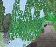 konstnärlig målningsflod för amstel vektor illustrationer