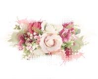 Konstnärlig rosa tappningstil Arkivfoton