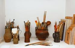konstnärlig studio Arkivfoto