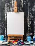 konstnärlig utrustning Borstar och målarfärger för att dra Objekt för kreativitet för barn` s fotografering för bildbyråer