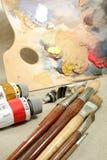 konstnärlig utrustningmålare Royaltyfri Fotografi