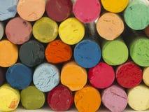 konstnärliga crayons royaltyfria foton