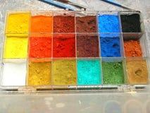 konstnärliga färger Arkivfoto