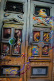 Konstnärliga färgrika dörrar i i stadens centrum Belgrade Royaltyfri Bild