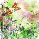 konstnärliga fjärilar Arkivfoto