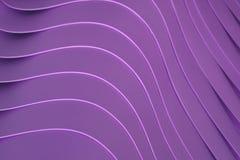 Konstnärliga krökta linjer av som travas upp bunkar för lilafärgplast-, för modell Royaltyfri Fotografi