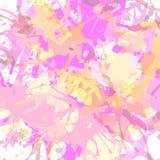 Konstnärliga målarfärgfärgstänk Arkivfoto