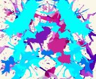 Konstnärliga målarfärgfärgstänk Arkivbilder