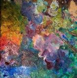 Konstnärliga palettknivar arkivbilder