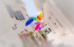 Konstnärliga paraplyer Royaltyfri Fotografi