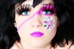 konstnärliga skönhetsmedel Royaltyfri Fotografi