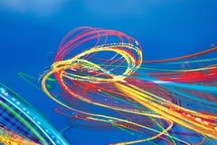 Konstnärliga virvlar av mångfärgad målarfärg Arkivfoton