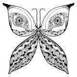 Konstnärligt abstrakt begrepp för fjäril Royaltyfri Bild