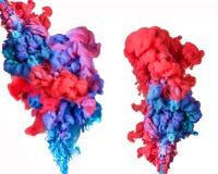 Konstnärligt abstrakt färgpulver i vatten, färgabstraktionbakgrund royaltyfri illustrationer