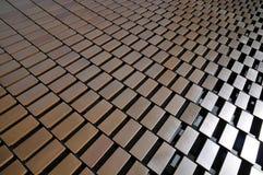 Konstnärligt arkitektoniskt byggnadsabstrakt begrepp med geometrisk design Arkivfoton