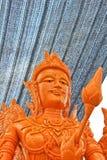 Konstnärligt av stearinljusfestival i Thailand. Arkivbild