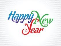 Konstnärligt lyckligt nytt år - vektorillustration stock illustrationer