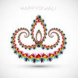 Konstnärligt med blom- färgrik garnering för diwalifestivalen cel royaltyfri illustrationer